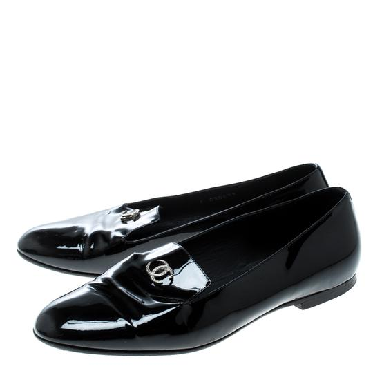 Chanel Patent Leather Black Flats Image 5