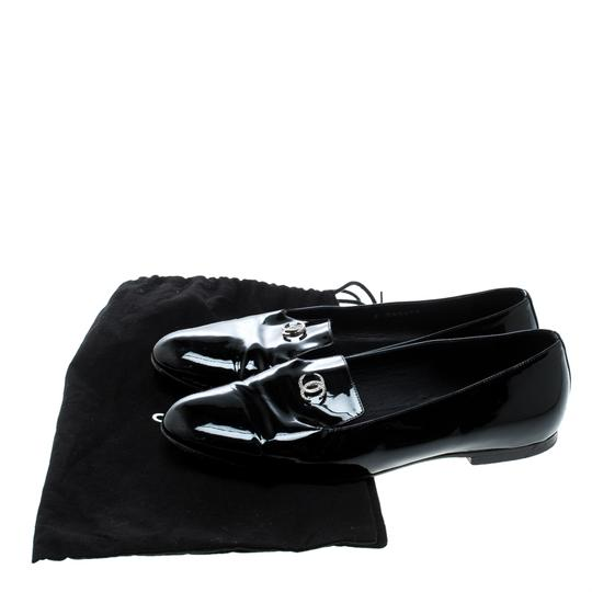 Chanel Patent Leather Black Flats Image 7