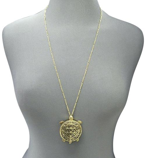 Preload https://img-static.tradesy.com/item/25519146/antique-gold-chain-5x-magnifying-glass-turtle-design-pendant-necklace-0-1-540-540.jpg