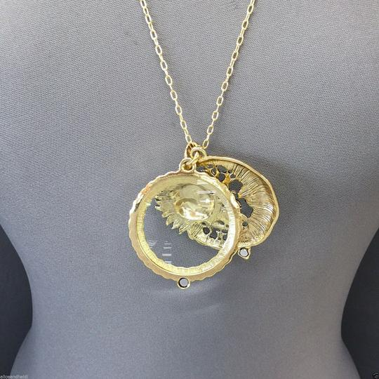 Generic Bohemian Antique Gold Moon Sun Stars 5X Magnifying Glass Necklace Image 3