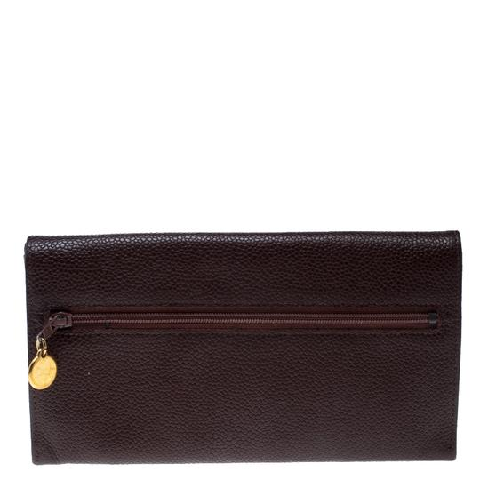 Chanel Maroon Leather CC Timeless Vintage Wallet Image 1