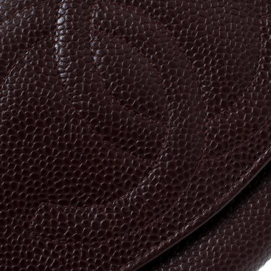Chanel Maroon Leather CC Timeless Vintage Wallet Image 6