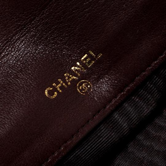 Chanel Maroon Leather CC Timeless Vintage Wallet Image 7