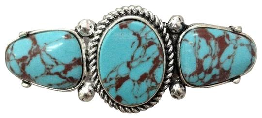 Preload https://img-static.tradesy.com/item/25519228/turquoise-stones-silver-finish-french-wide-pendant-brooch-hair-accessory-0-1-540-540.jpg