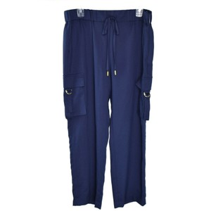 Michael Kors Fashion Drawstring Basics Baggy Pants Navy