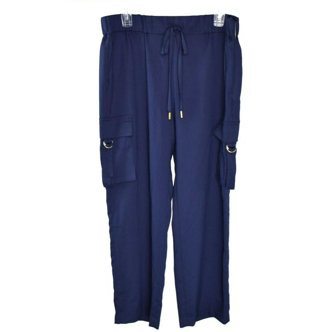 Michael Kors Fashion Drawstring Basics Baggy Pants Navy Image 0