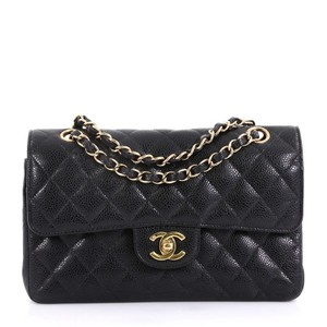 Chanel Vintage Double Flap Quilted Satchel in black