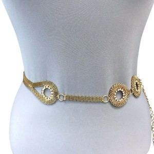 Generic Gold Finished Chain Urban Designer Inspired Stones Woman's Belt