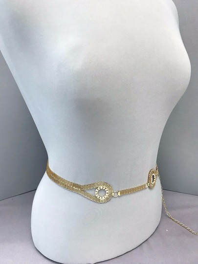 Generic Gold Finished Chain Urban Designer Inspired Stones Woman's Belt Image 1