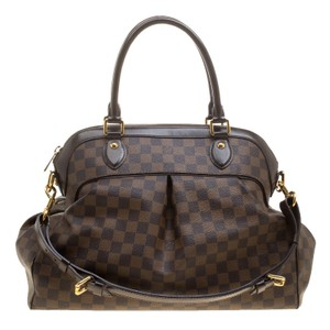 Louis Vuitton Leather Canvas Satchel in Brown