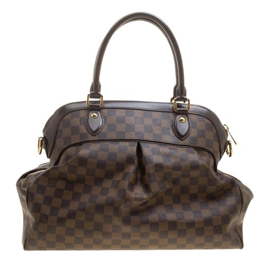 Louis Vuitton Leather Canvas Satchel in Brown Image 1
