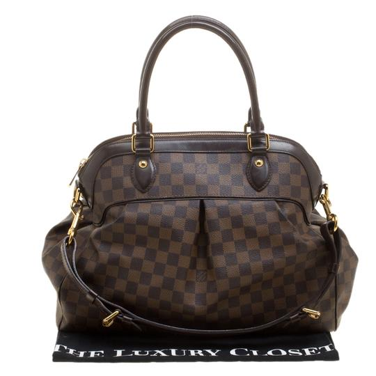 Louis Vuitton Leather Canvas Satchel in Brown Image 10