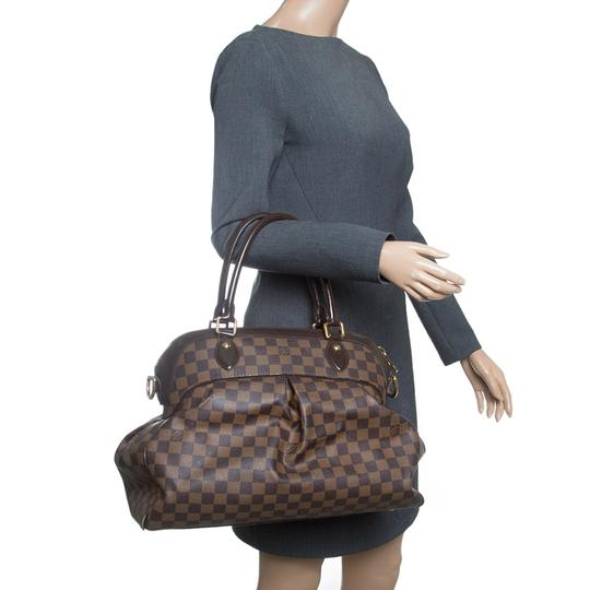 Louis Vuitton Leather Canvas Satchel in Brown Image 2