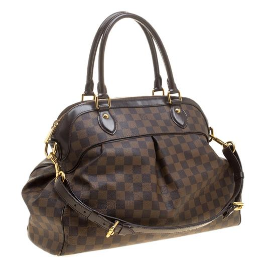 Louis Vuitton Leather Canvas Satchel in Brown Image 3