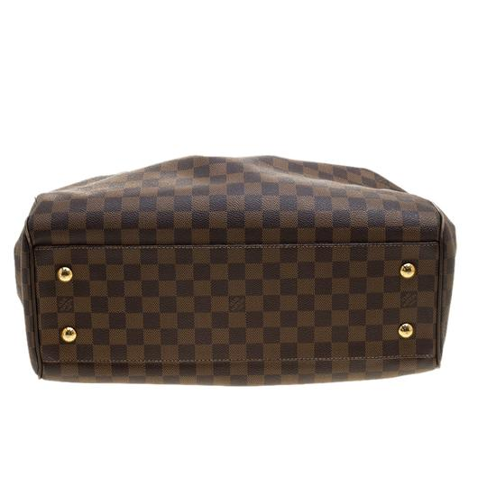 Louis Vuitton Leather Canvas Satchel in Brown Image 4