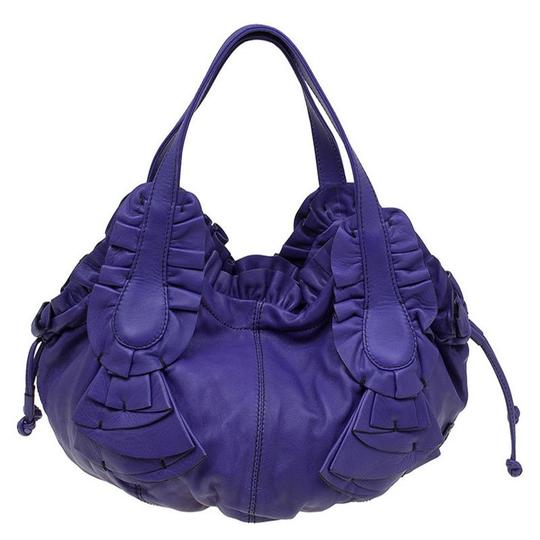 Valentino Leather Satin Hobo Bag Image 1
