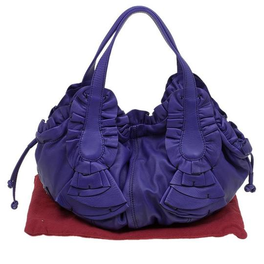 Valentino Leather Satin Hobo Bag Image 10