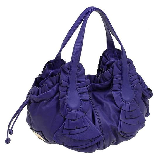 Valentino Leather Satin Hobo Bag Image 3