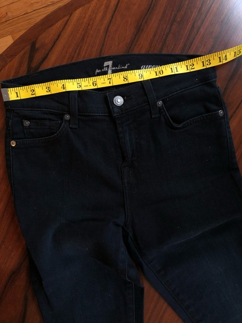 7 For All Mankind Skinny Jeans-Dark Rinse Image 8