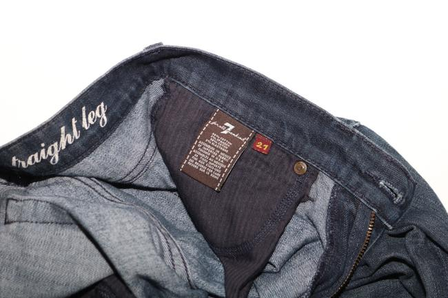 7 For All Mankind Straight Leg Jeans-Dark Rinse Image 4