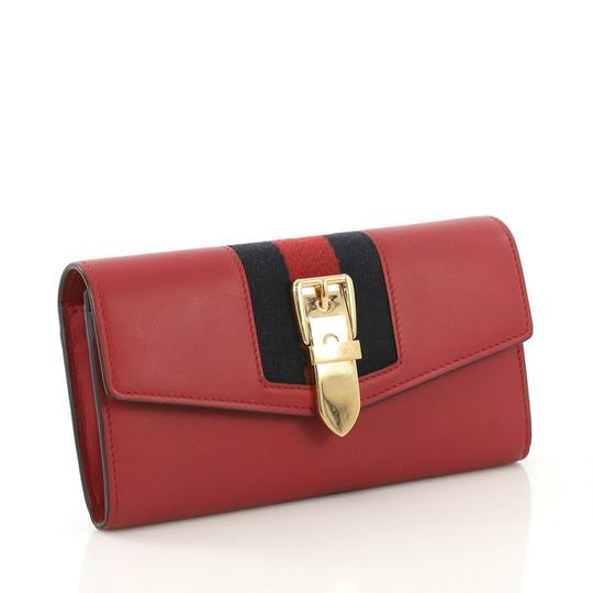Gucci Sylvie Wallet Leather Red Clutch Image 2