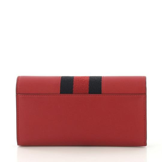 Gucci Sylvie Wallet Leather Red Clutch Image 3
