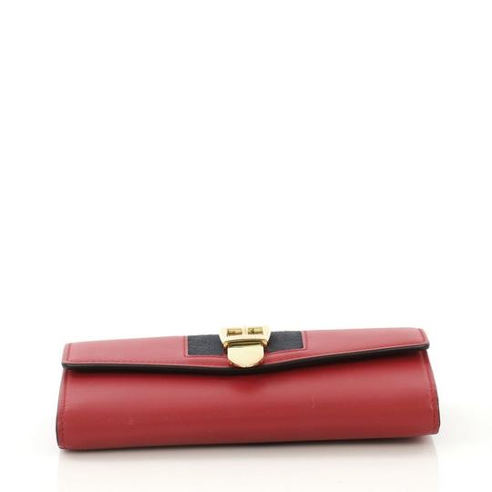Gucci Sylvie Wallet Leather Red Clutch Image 4