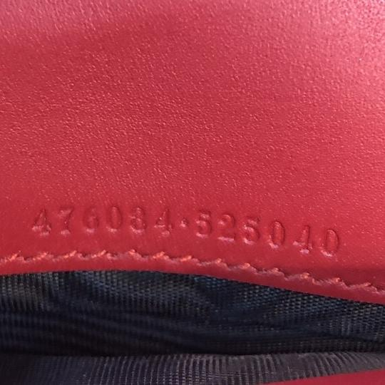 Gucci Sylvie Wallet Leather Red Clutch Image 7