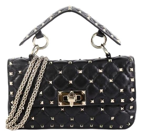 Preload https://img-static.tradesy.com/item/25519373/valentino-flap-bag-rockstud-spike-quilted-small-black-leather-satchel-0-1-540-540.jpg