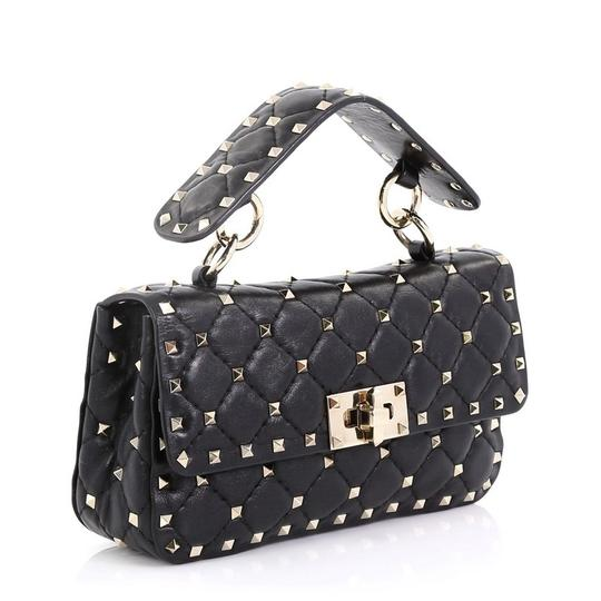 Valentino Rockstud Flap Satchel in black Image 1