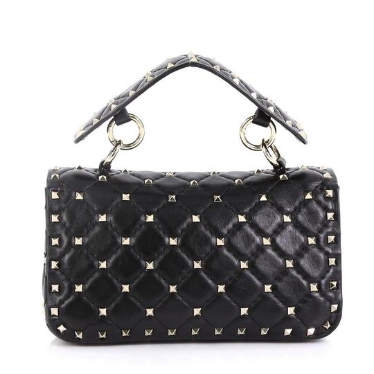 Valentino Rockstud Flap Satchel in black Image 2