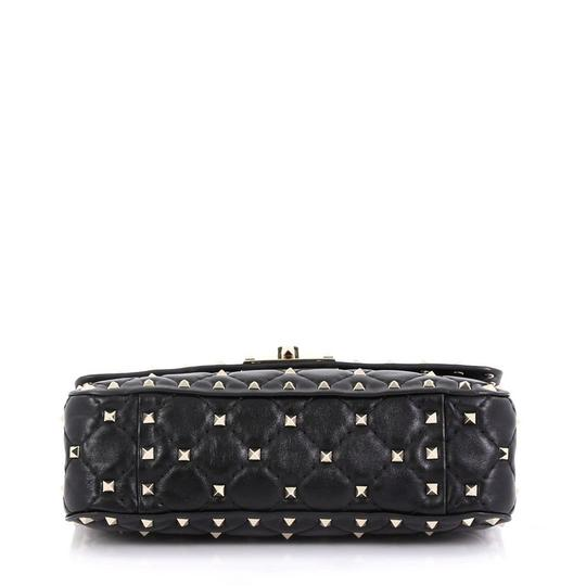 Valentino Rockstud Flap Satchel in black Image 3