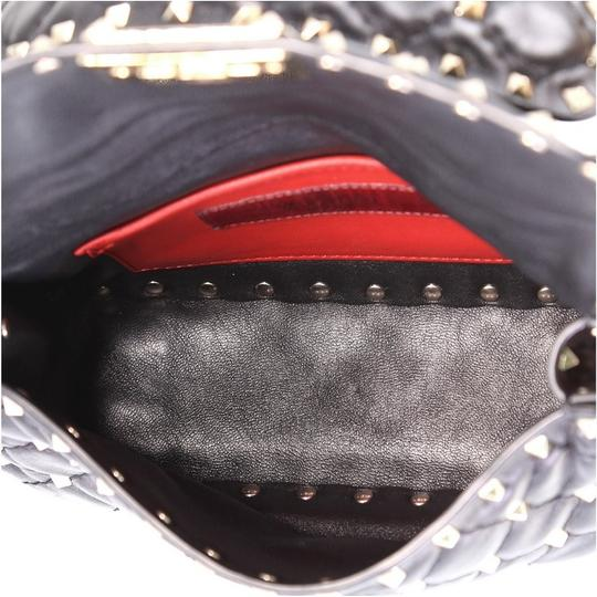 Valentino Rockstud Flap Satchel in black Image 4