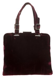 Prada Nylon Satchel in Burgundy