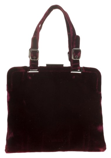 Prada Nylon Satchel in Burgundy Image 0