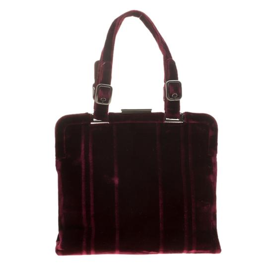 Prada Nylon Satchel in Burgundy Image 1