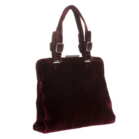 Prada Nylon Satchel in Burgundy Image 3