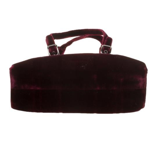 Prada Nylon Satchel in Burgundy Image 4
