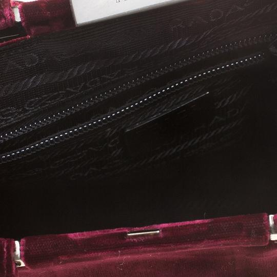 Prada Nylon Satchel in Burgundy Image 9