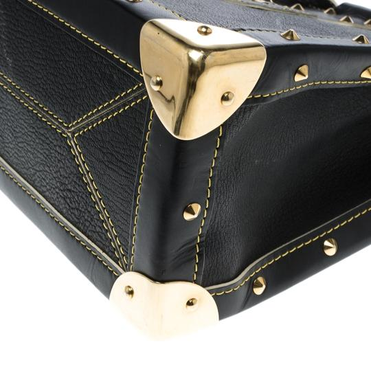 Louis Vuitton Leather Tote in Black Image 7