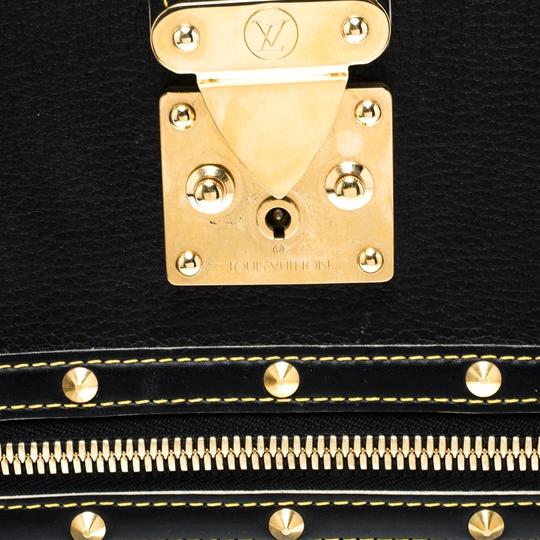 Louis Vuitton Leather Tote in Black Image 8