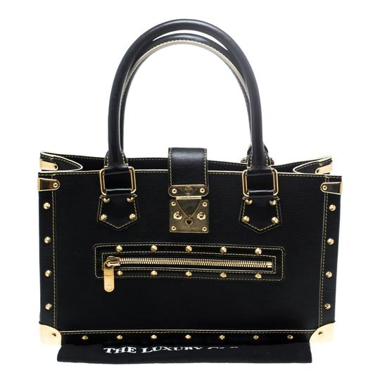 Louis Vuitton Leather Tote in Black Image 9