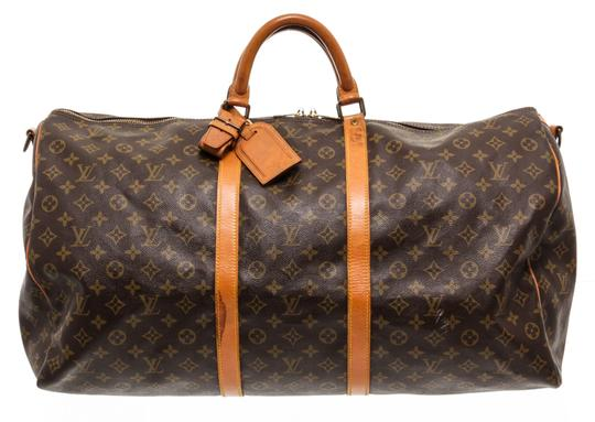 Preload https://img-static.tradesy.com/item/25519483/louis-vuitton-bandouliere-duffle-keepall-monogram-60-cm-lugagge-brown-coated-canvas-and-leather-week-0-0-540-540.jpg