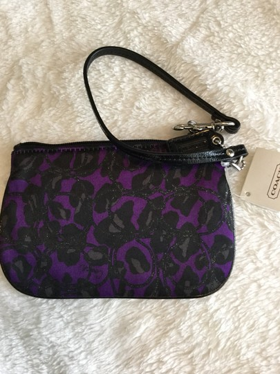 Coach Wristlet in Purple and Black Image 1