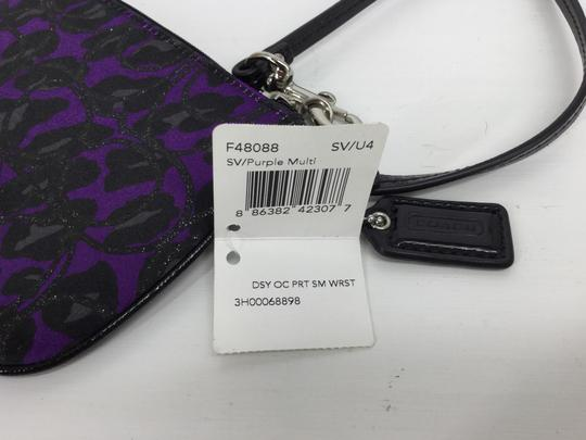 Coach Wristlet in Purple and Black Image 4