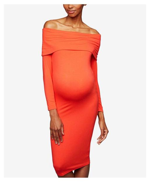 Preload https://img-static.tradesy.com/item/25519537/a-pea-in-the-pod-red-orange-bodycon-mid-length-short-casual-dress-size-8-m-0-0-650-650.jpg