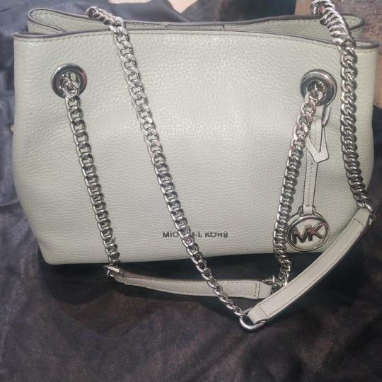 Michael Kors Michael Kors grey petite purse. Two compartments with zipper pouch to separate. Button snap to close. Never used Image 1