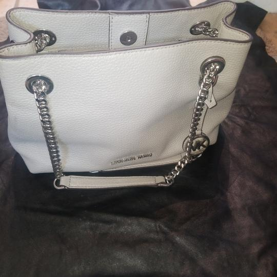 Michael Kors Michael Kors grey petite purse. Two compartments with zipper pouch to separate. Button snap to close. Never used Image 4