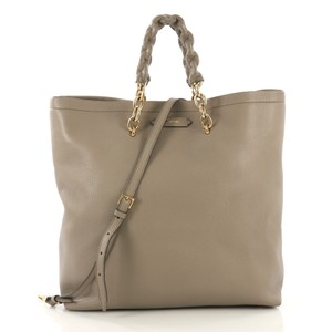Tom Ford Leather Tote in taupe