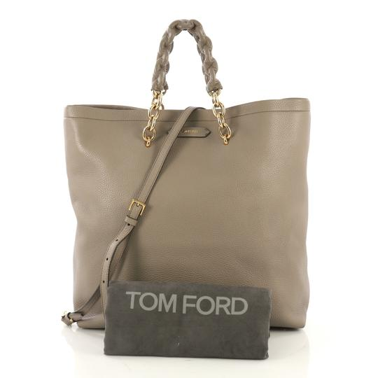 Tom Ford Leather Tote in taupe Image 1